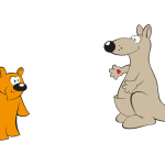 kanga wimmelbild illustration für werbung